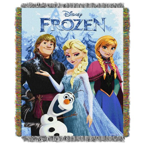 Disney Frozen Woven Tapestry Throw Blanket