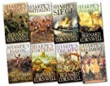 img - for Sharpe's battle Collection 8 Book Set by Bernard Cornwell (Sharpe's Company, Sharpe's Regiment, Sharpe's Siege, Sharpe's Fortress, Sharpe's Triumph, Sharpe's Havoc, Sharpe's Trafalgar, Sharpe's Waterloo, Sharpe's War Battle) book / textbook / text book