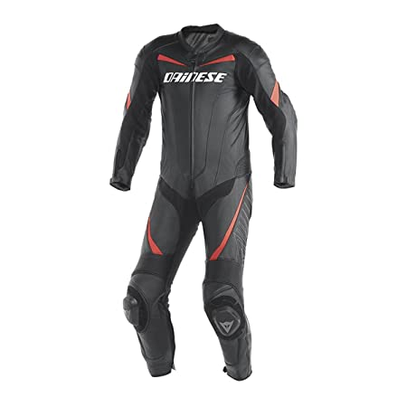 Dainese 1513423_P75_50 TRacing P Noir/Fluo-Rouge, Taille : 50