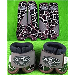 Giraffe Med Professional Choice Sports Medicine Horse Boots Bell Ventech Elite by HILASON