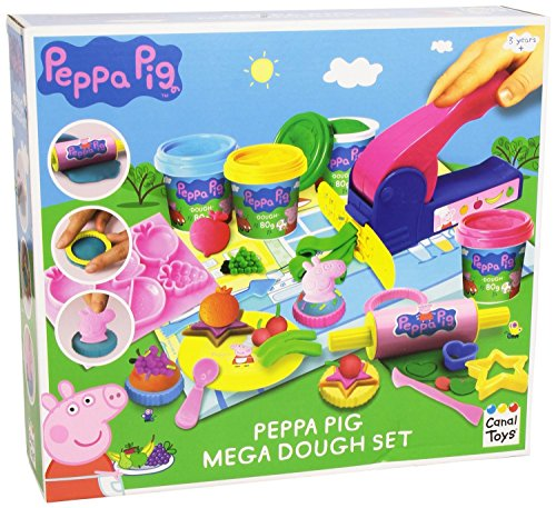Peppa Pig Mega Dough Set - Compatible with Play Doh Ages 3+ (Play Dough Mats compare prices)