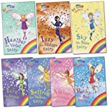 Rainbow Fairies Pack, 7 books, RRP £27.93 (Amber the Orange Fairy; Fern the Green Fairy; Heather the Violet Fairy; Izzy the Indigo Fairy; Ruby the Red Fairy; Saffron the Yellow Fairy; Sky the Blue Fairy). (Rainbow Magic) Daisy Meadows