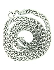 Gents Stainless Steel Silver Mechanic Style Chain Necklace- Mens Jewellery By Opouriao - B00PCAN0WI