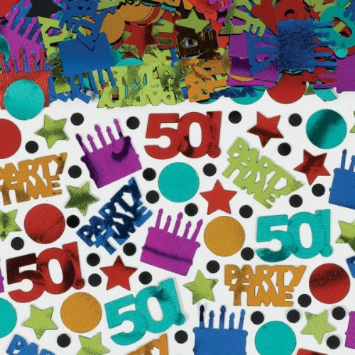 Dots & Stripes 50th Birthday Confetti - 1