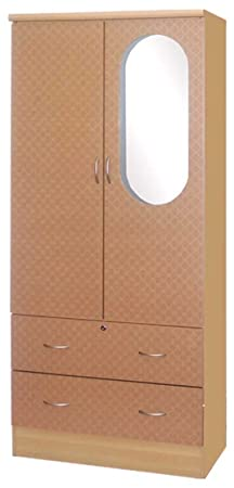 HODEDAH IMPORT 2-Door Wardrobe, Beech