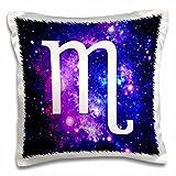 3dRose Scorpio Star Sign on Purple Space Background-Zodiac Horoscope Symbol-Pillow Case, 16 by 16
