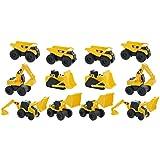Road Rippers CAT Mini Machine Free-Wheeling Construction Playtime Truck Kit (12 Pack: 4 x Dump Trucks, 2 x Wheel Loaders, 2 x Excavator, 2 x Bulldozers, 2 x Backhoes)