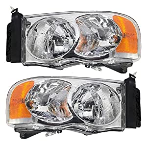 Dodge RAM Pickup Replacement Headlight Assembly - 1-Pair