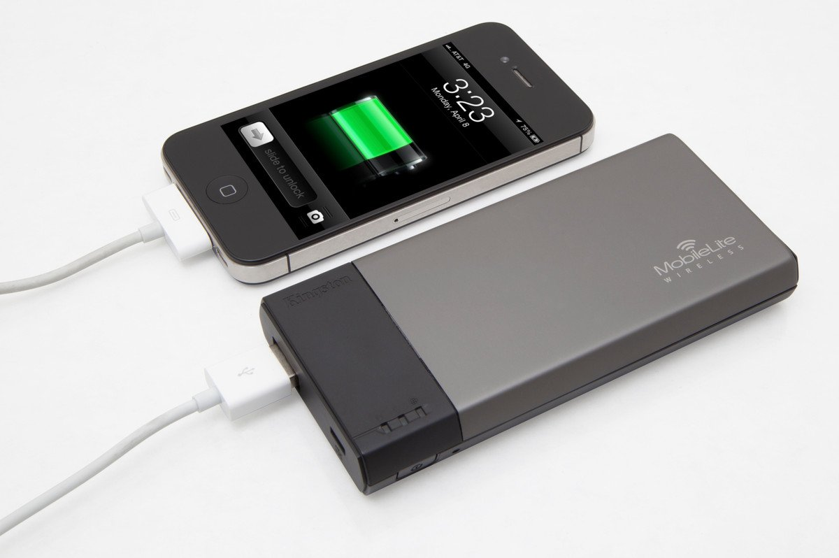 MobileLite Wireless acting as power bank
