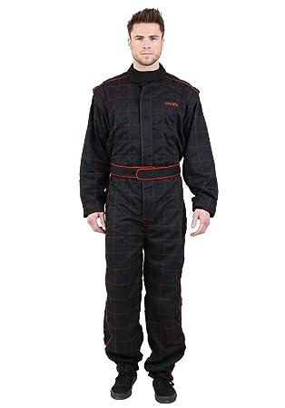 NERVE 1551020404_03  Race 450D Combinaison Karting Combi Kart, Noir, Taille M