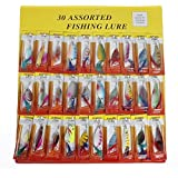 CAMTOA 30pcs Cuillers de Pêche à la Truite Perche Sandre Brochet Leurres Carnassier UK