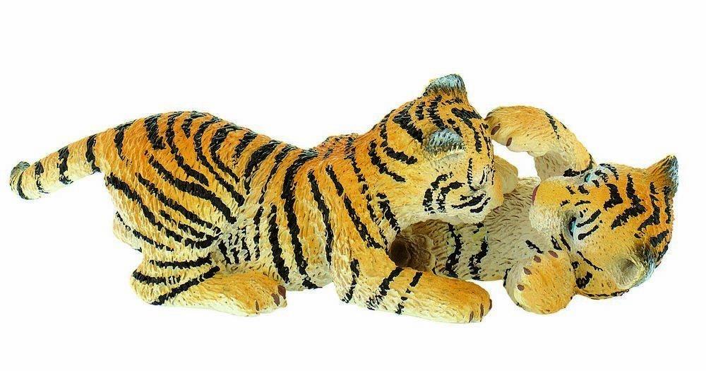 """WILDTIERE Kunststoff Figuren-Reihe """"Herumtollende TIGER JUNGEN"""" – Tiger Babys, ca. 10cm günstig als Geschenk kaufen"""