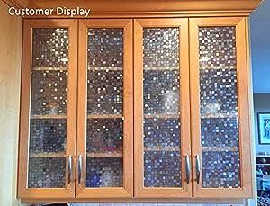 Bloss Window Film Premium Privacy Window Films Decorative Windows Film Small Mosaic Heat Control Anti UV Glass Film Home Office Bathroom Bedroom, 17.7