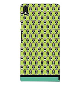 PrintDhaba Pattern D-1632 Back Case Cover for HUAWEI ASCEND P6 (Multi-Coloured)