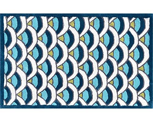 The Rug Market 12391B Handmade Rugs, Chi-Lin Blue, Multicolor
