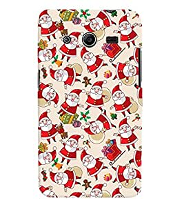 Printvisa Assorted Santa Clause Pattern Back Case Cover for Samsung Galaxy Core 2 G355H
