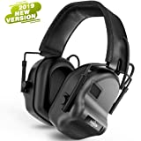 Tactical Headset Electronic Earmuff Headphones - Sound Amplification Electronic Noise Canceling Hearing Protection(Black) (Color: Black)