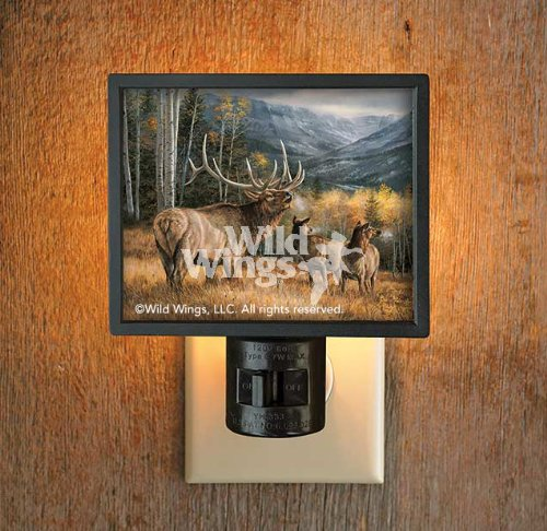 Meadow Music Elk Gallery Art Night Light by Rosemary Millette
