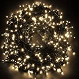 Lighthome Waterproof 30M 300 LED String Fairy Lights with 8 Operation Modes for Indoor Outdoor Wedding Christmas Tree Party Room Warm White