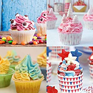 Russian Piping Tips 6 Pcs/Set, Messar Stainless Steel Russian Piping Ball Tips Frosting Icing Piping Nozzles Set Flower Cake Decorating Tips Kit for DIY Baking Cake Decorating Supplies (6 Pcs) (Color: 6 Pcs)