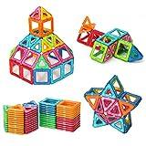 ColorGo 磁石 おもちゃ マグネットブロック 立体パズル(76ピース) 積み木 ゲーム 創造力と想像力を育てる 赤ちゃん知育玩具