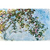 Tallenge Old Masters Collection - The Roses By Claude Monet - A3 Size Premium Quality Rolled Poster