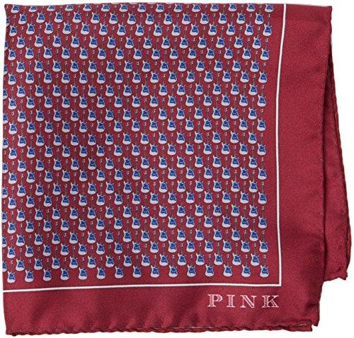 thomas-pink-guitar-print-pocket-square-mouchoirs-homme-multicoloured-burgundy-blue-taille-unique