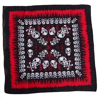 HDE 100% Cotton Bandana - Assorted Skulls Print