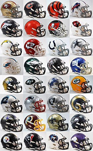 All 32 NFL Teams SPEED Revolution Riddell Mini Helmets (Mini Nfl Helmets compare prices)