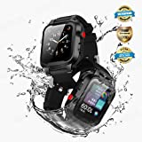 Apple Watch Waterproof Case for 42mm Apple Watch Series 3 & 2, EFFUN IP68 Waterproof Shockproof Impact Resistant Apple Watch Case Rugged Protective iWatch Case + 2 Soft Silicone Apple Watch Band Black (Color: 42mm Apple Watch Waterproof Case)