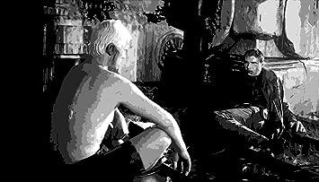 Blade Runner en estilo Pop de pintura al óleo 40 x 28 de arte pintado a mano, no es un Giclée, o Póster de cuadro. Este es un diseño de interpretación de una escena de anzuelo clásico de modernos Cinema. Pincelada