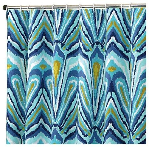 Trina Turk Blue Peacock Shower Curtain