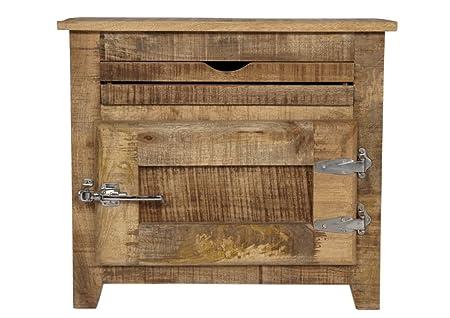 SIT-Möbel 2501-01 Frigo - Cómoda (70 x 30 x 60 cm, madera maciza de mango, con manija de frigorífico, lacado), color natural