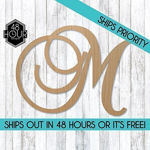 SALE 12-36 inch tall Single Letter Curved Font Wooden Monogram Vine Room Decor Nursery Decor Wooden Monogram Wall Art Large Wood monogram wall hanging wood LARGE (D Wall Monogram compare prices)