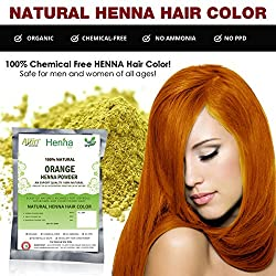 Orange Henna Hair Color - 100% Organic and Chemical Free Henna for Hair Color Hair Care - (60 Gram = 1 Packets)