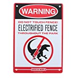 Jurassic World Electrified Raptor Fence Tin Litho Warning Sign LootCrate March 2017 Exclusive (Color: Multi-colored)