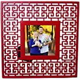 Home Decor Chinese Designs Ceramic 4x4 INCH Square Photo Frame