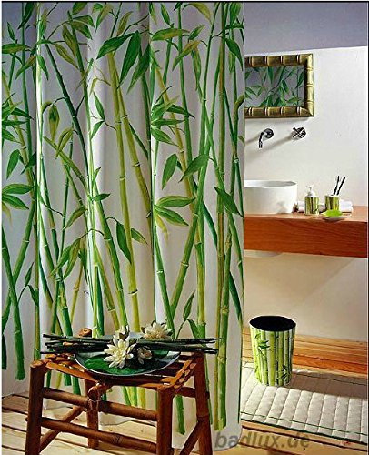 Personalized Home Pattern Design Shower Curtain Waterproof Bathroom Fabric Shower Curtain (Bamboo)