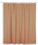 Rizzy Home Chevron Shower Curtain, Orange/White