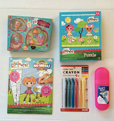 Lalaloopsy Mini Lala Oopsie Little Doll Fairies, Color Book , Puzzle, Diaso slide crayons (6) and Pink Carrying Case Play Bundle. Perfect for Christmas, Hanukkah of Holiday Play Gift (5 items) (Large Slide Whistle compare prices)