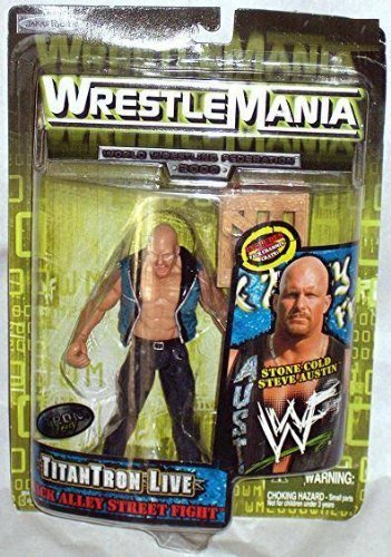 WWF HHH TitanTron Live - Back Alley Street Fight WrestleMania 2000 Action Figure - 1