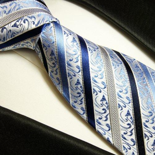 Necktie by Paul Malone blue 100% Silk Mens Tie
