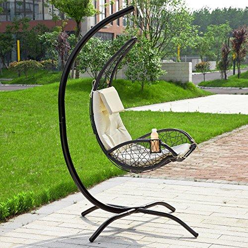 SoBuy® Amaca extra lusso relax da giardino,Lettino prendisole, Poltrona a dondolo, OGS26-MI.IT