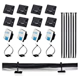 100 Pack Zip Tie Adhesive Mounts Self Adhesive Cable Tie Base Holders with Multi-Purpose Cable Tie (Black) (Color: Black)
