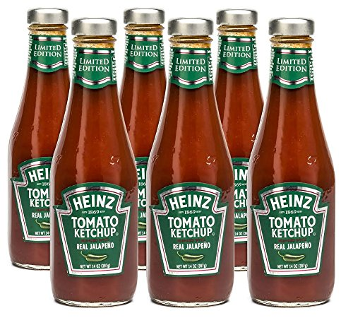 Heinz Tomato Ketchup With Jalapeno, 14 Ounce Bottles (Pack Of 6) front-684828