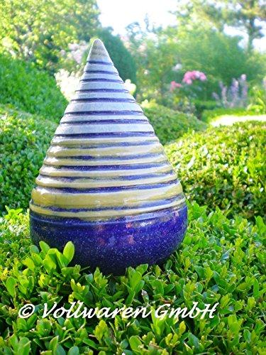 rosenkugel-zapfen-geringelt-keramik-h15-handgearbeitet-blau-kunstkeramik-frostfest