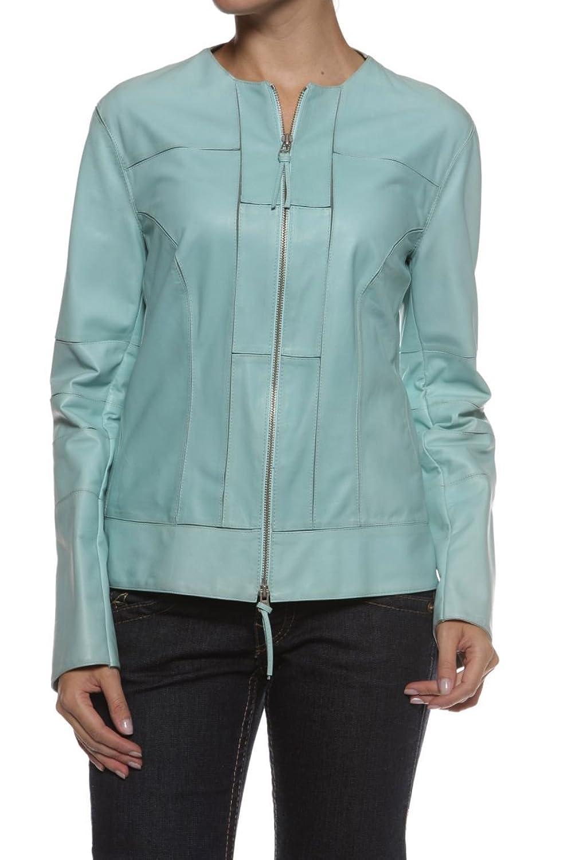 Cristiano di Thiene Damen Jacke Lederjacke BELLA, Farbe: Hellblau jetzt bestellen