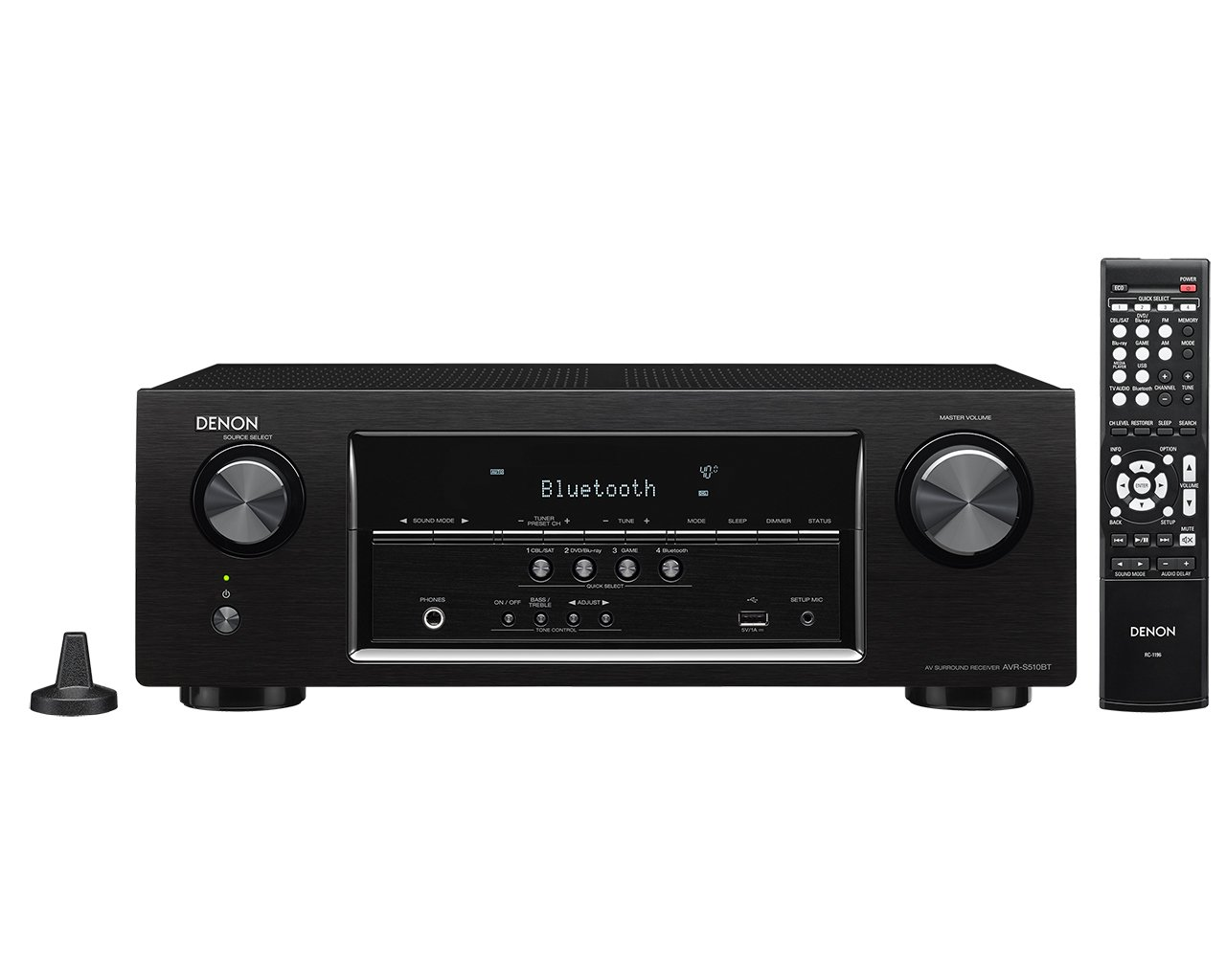 Denon AVR-S510BT 5.2 Channel Full 4K Ultra HD A/V Receiver with Bluetooth