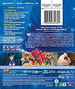 Big Hero 6 (Blu-ray + DVD + Digital HD) from Walt Disney Studios