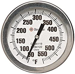 Browne Foodservice CT84122 Candy/Fry Dial Thermometer, 12-Inch
